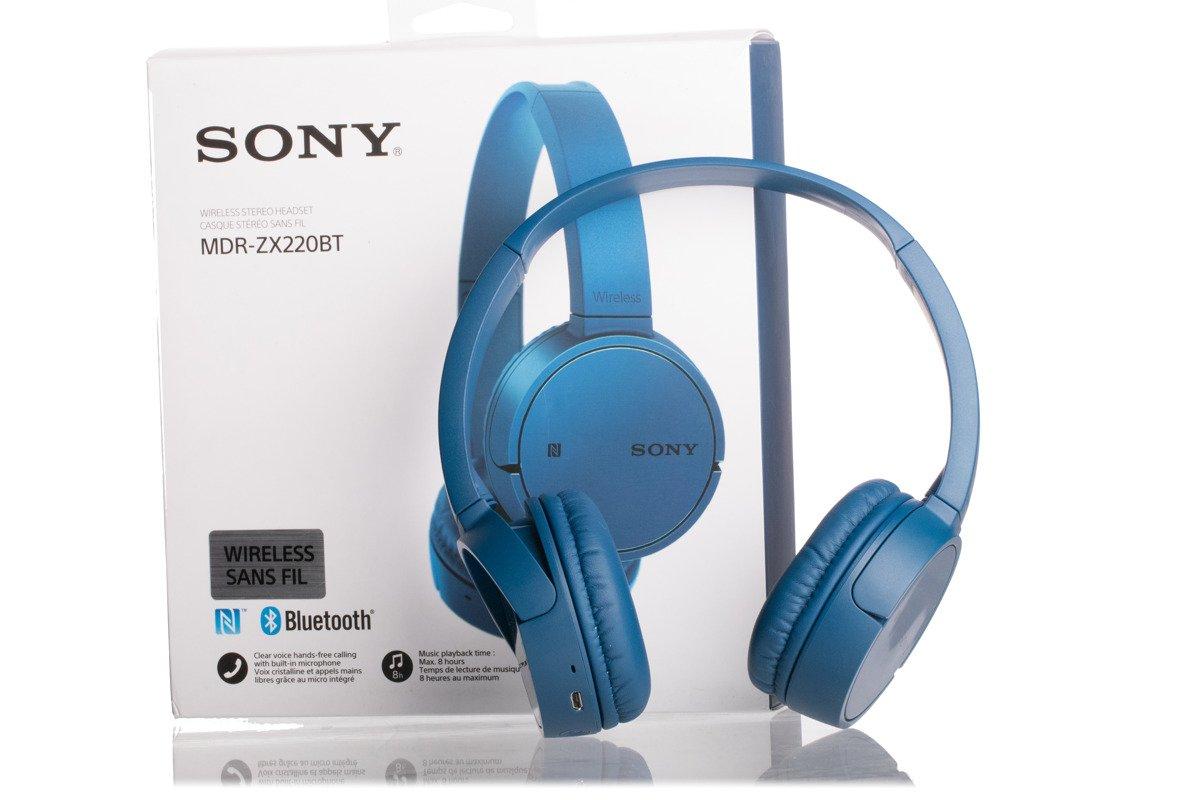Dropmax 26 Hp In Ear H2310 Navy Blue Headset Sony Mdr Zx220bt Headphones Bluetooth Grade B