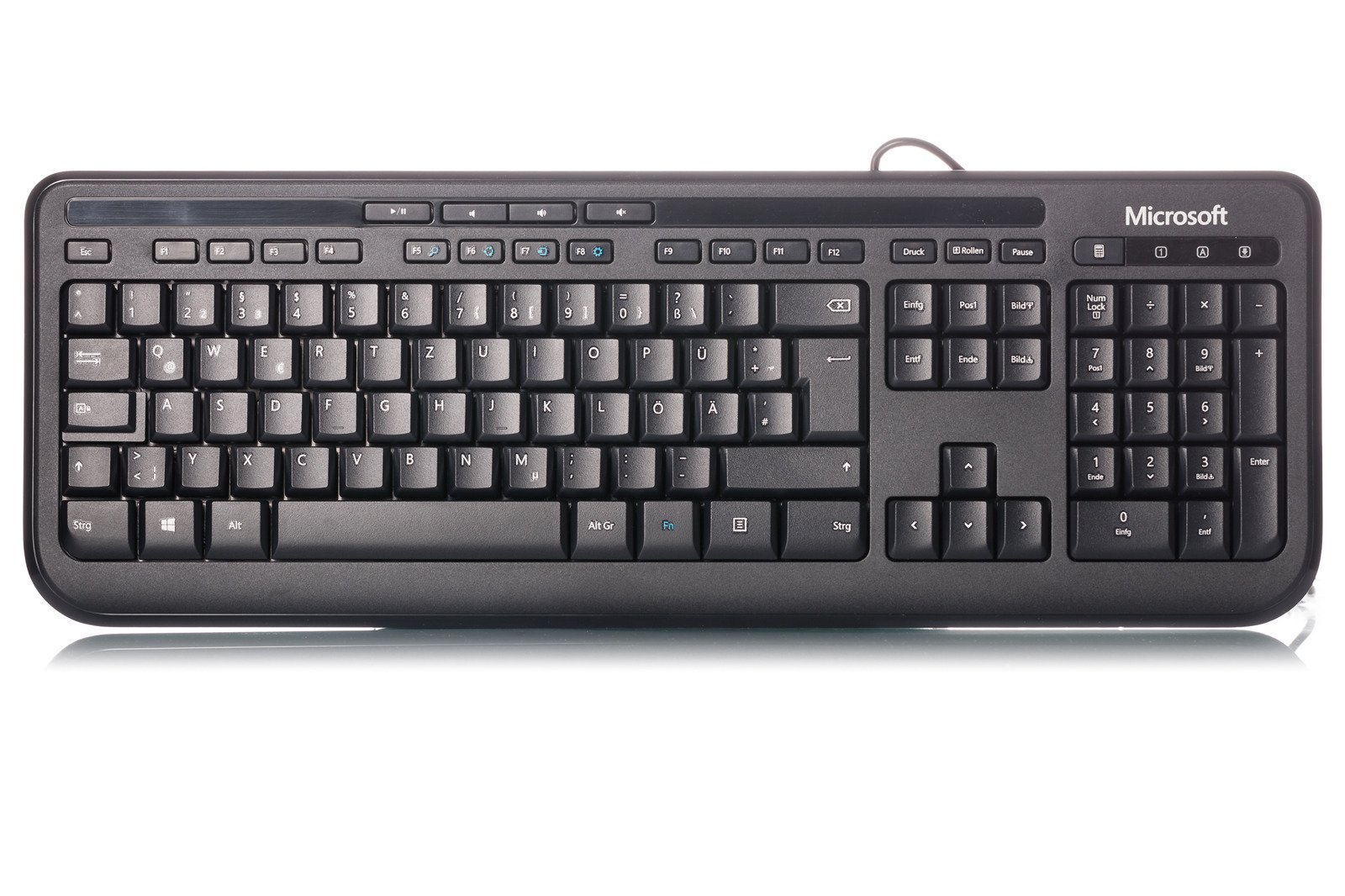 microsoft wired keyboard 600 black german like new german black computers peripherals. Black Bedroom Furniture Sets. Home Design Ideas