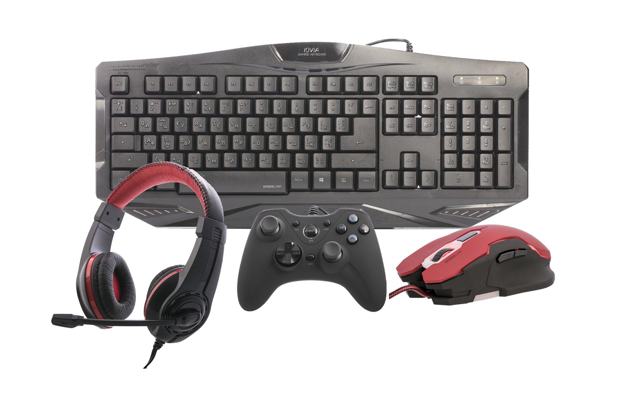 SpeedLink Gaming Set Mouse + Controller + Keyboard + Headset PC