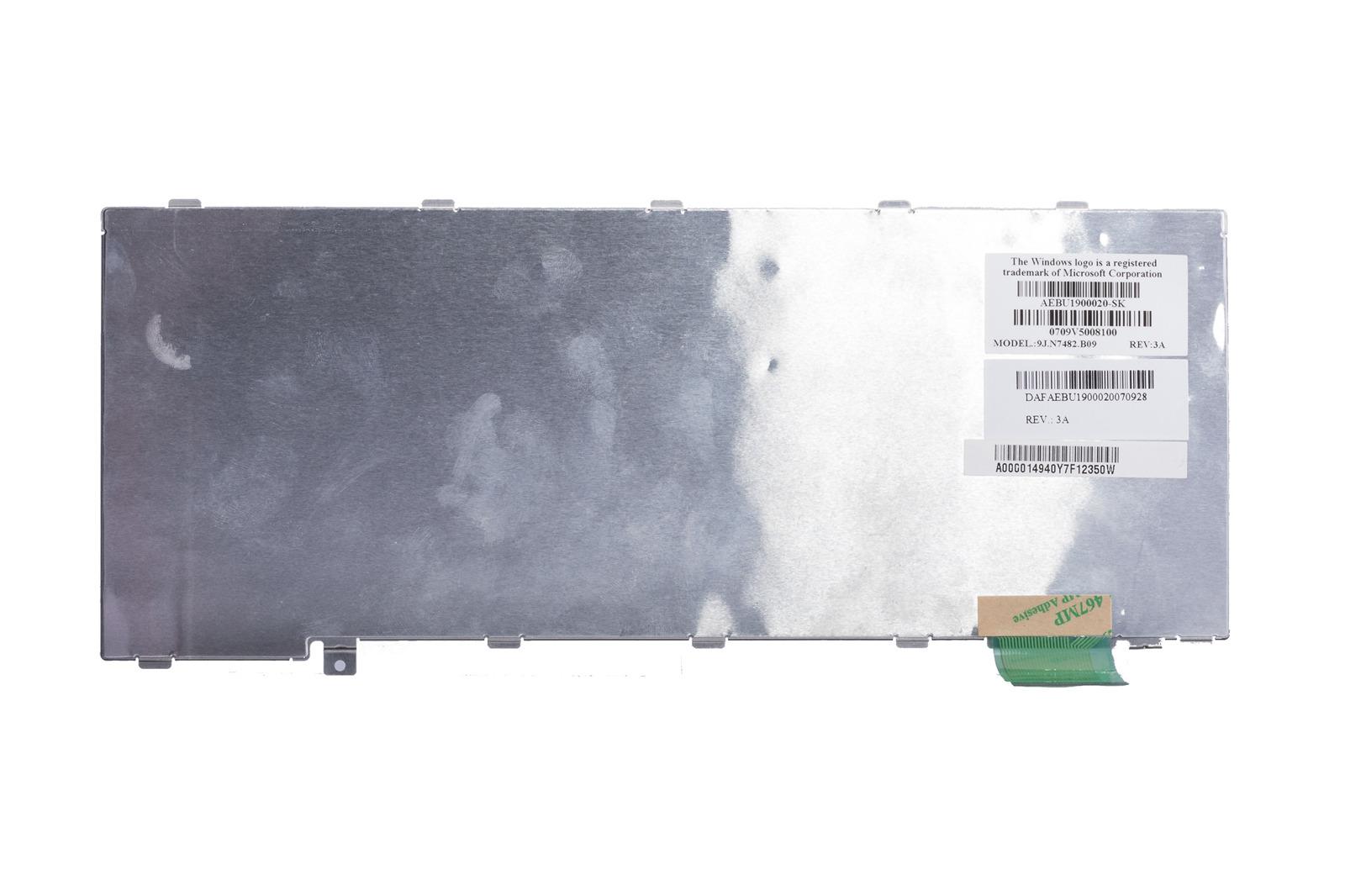 Keyboard Toshiba silver A000014940 (Slovak)