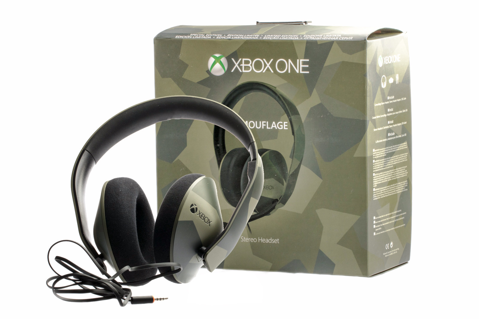 Microsoft Xbox One Camouflage Headset Special Edition with no microphone