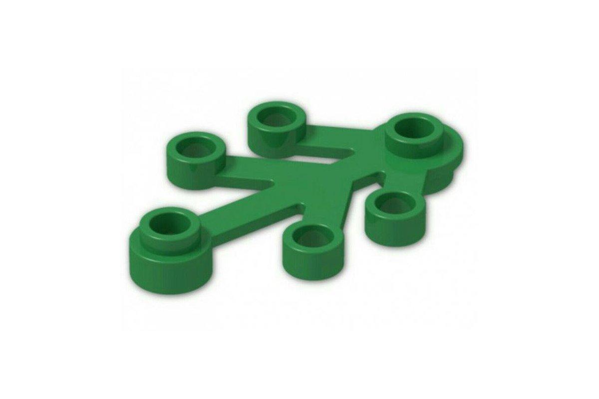 LEGO Klocek 2423 Liść Roślina 4x3 Zielony