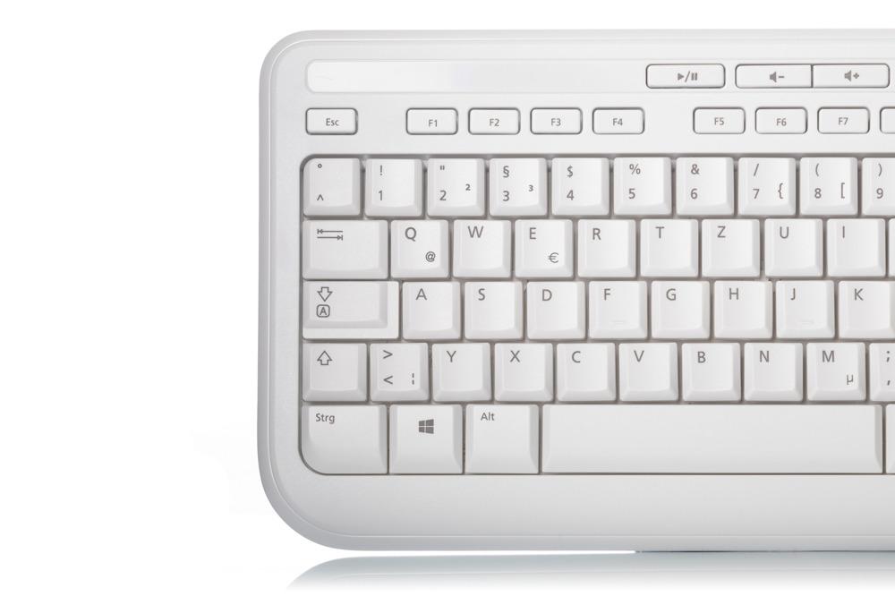 Klawiatura Microsoft Wired 600 Biała (Niemiecka)
