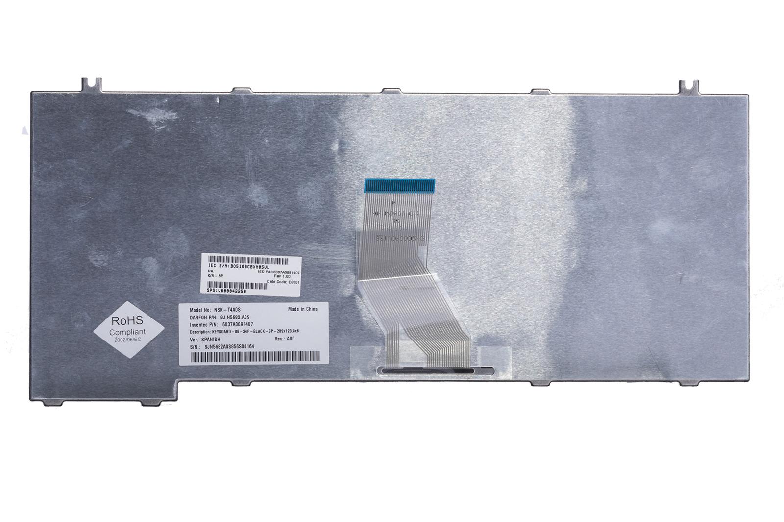 Klawiatura Toshiba 9J.N5682.A0S (Hiszpańska)