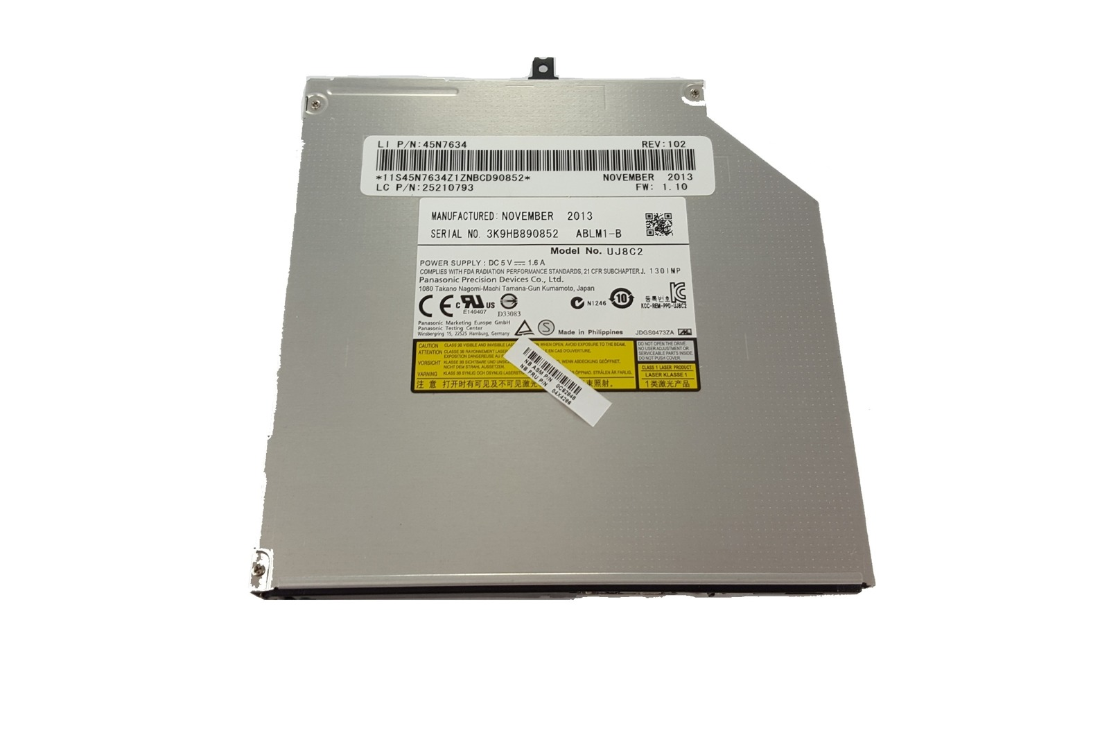 Nagrywarka Laptop CDRW DVD Panasonic UJ8C2
