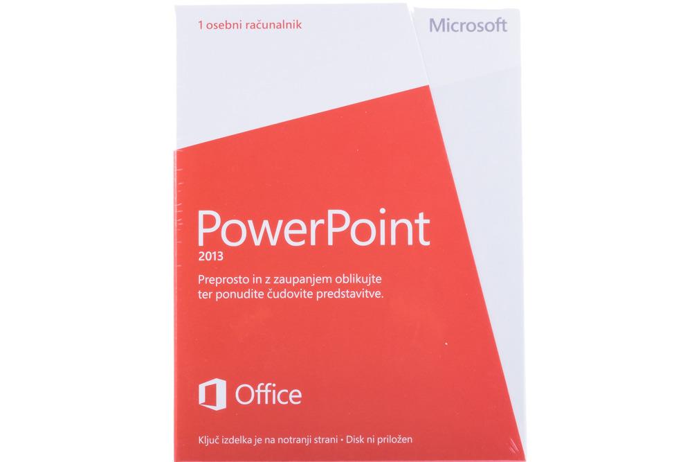 PowerPoint 2013 32bit/X64 Slovenian Medialess